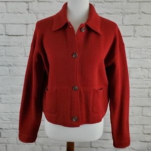 J. Crew Vintage Blazer Jacket Red Pockets Small